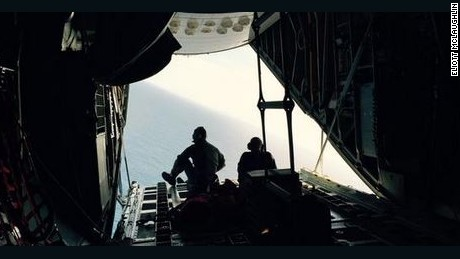 A Coast Guard crew searches for survivors of the El Faro cargo ship.