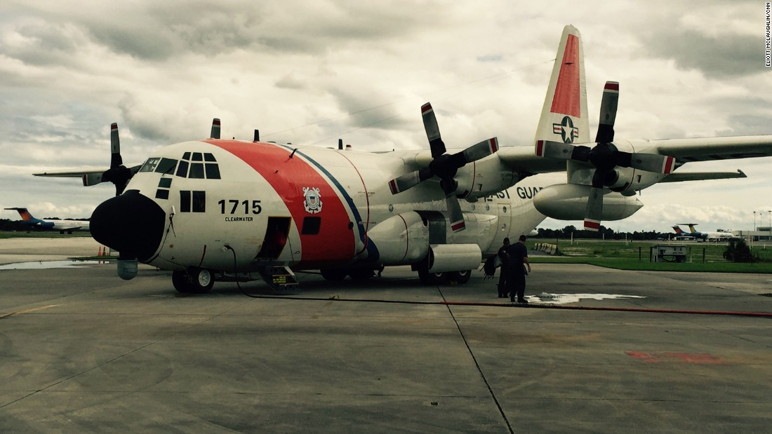 The Lockheed HC-130 that took the CNN crew up is a modified version of the C-130 Hercules transport plane. This model is suited specifically for search-and-rescue missions, whether they be in combat or otherwise. Though Monday's search kept the plane in the air for 10 hours, it landed with more than 15,000 pounds of fuel. A Coast Guard pilot told CNN that in the event of an emergency or change of plans, the plane could have remained in the air several more hours.