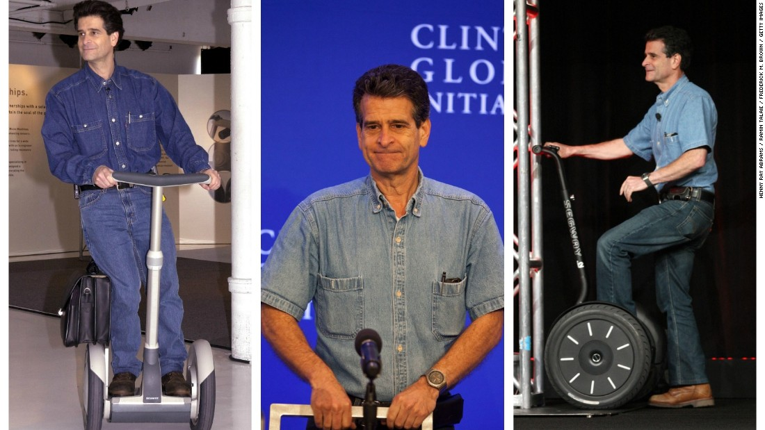 Segway inventor Dean Kamen always wears a denim work outfit. 'I always wear work clothes when I'm working. But if I'm awake, I'm working,' he told The Telegraph in 2008.