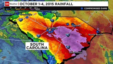 Map: Compromised dams in S.C.