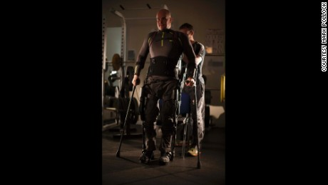 Blind and paralyzed, an adventurer takes new steps