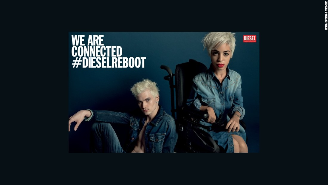 "Positioning Jillian Mercado in her wheelchair alongside fellow model James Astronaut for Diesel's SS14 campaign offered disability the kind of visibility that it rarely experiences in fashion. Nicola Formichetti, the creative director of the brand, said: ""Using her in a campaign is a global brand saying, this girl is as cool as the boy who she's sitting next to. It's about glorifying a normal thing, showing the reality of where we live, and it can be very powerful."""