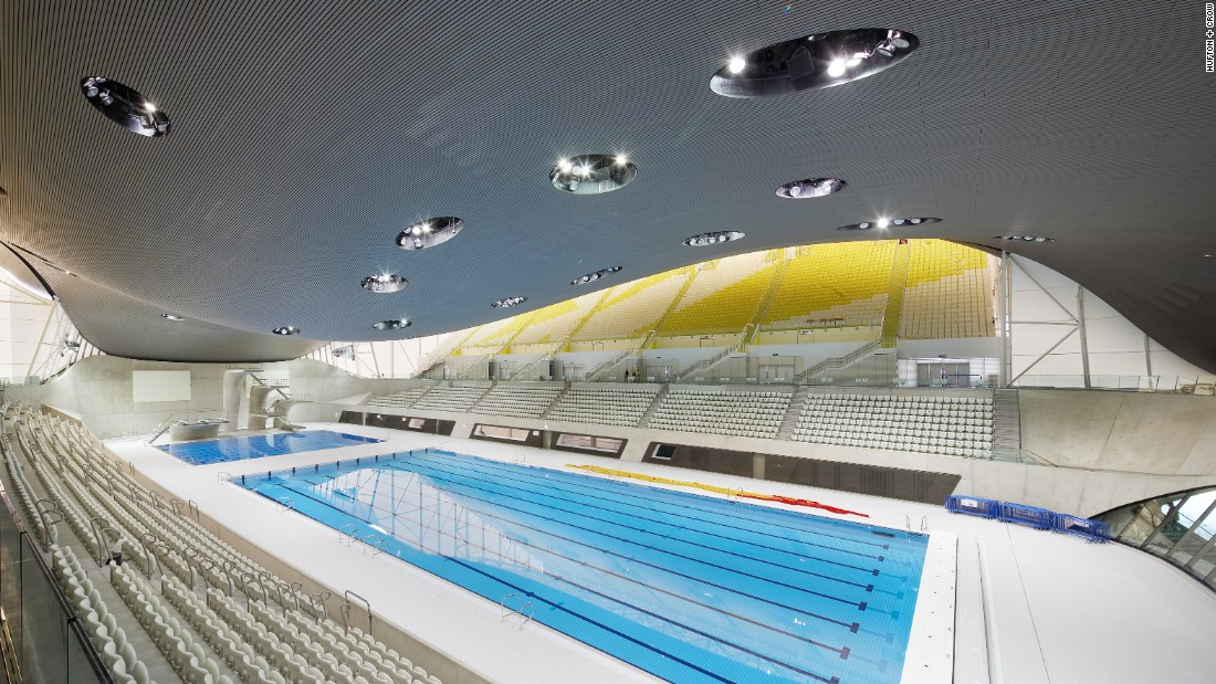 Flick through the gallery to see buildings shortlisted in the World Architecture Festival's sport category. The London Aquatics Centre by Zaha Hadid Architects, appears above.