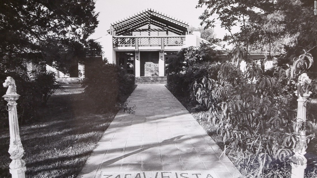 An archive photo of the main house at Waggoner Ranch -- one of 100 properties included in the sale.