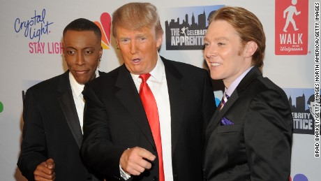 "Arsenio Hall, Donald Trump and Clay Aiken attend  the ""Celebrity Apprentice"" Live Finale at American Museum of Natural History on May 20, 2012 in New York City."