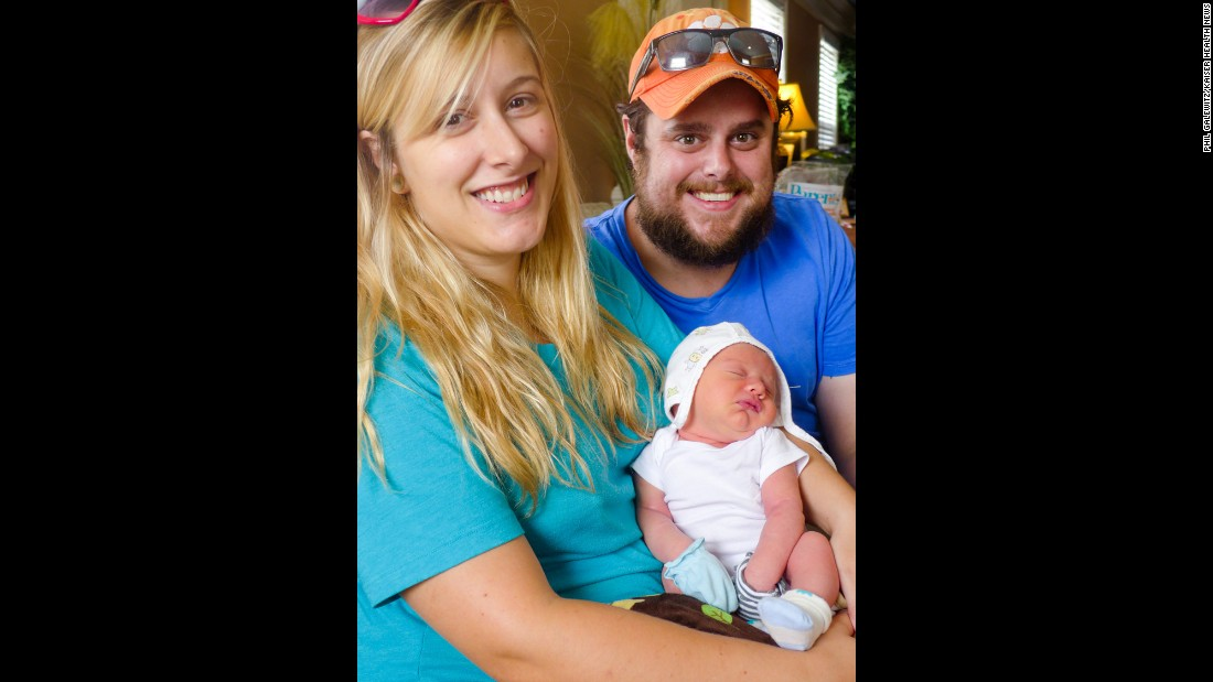 At Blessed Births, a birth center in Greenville, S.C., Kristen Laing, 25 and husband Harrison Laing, 29, from Greenville hold baby Elijah, about a week after he was born. The downtown center is owned and run by a certified professional midwife.