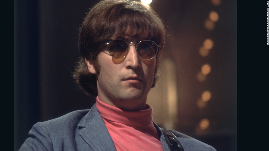 """Tomorrow Never Knows.""  Lennon, along with the rest of the Beatles, became distinctly more relaxed about his wear in 1966, as the Sixties became increasingly psychedelic."