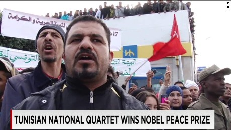 Nobel Peace Prize awarded to Tunisia's National Dialogue Quartet