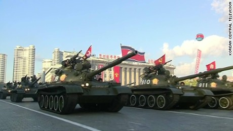 North Korea stages 'biggest ever' military parade