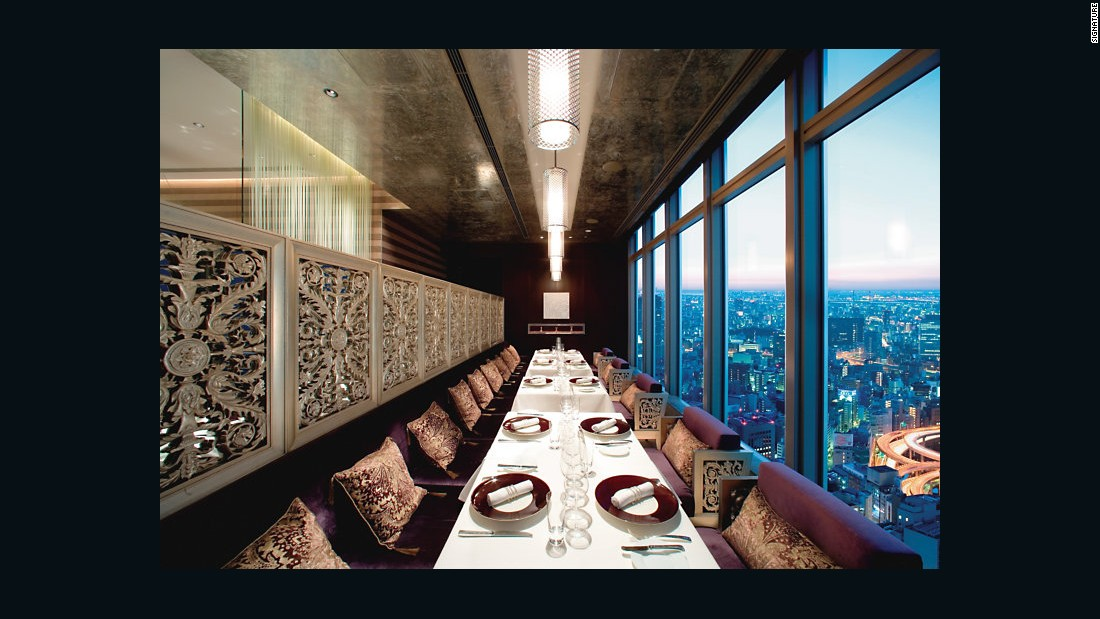 Tokyo's Mandarin Oriental Hotel has three Michelin-starred restaurants, including French eatery Signature, pictured. All of its Japanese chefs and staff have lived and worked in France.