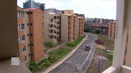 A housing development in Addis Ababa that wil contain space for 50,000 people.