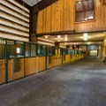Inside the vast stables at Berman Ranch in Telluride, Colorado