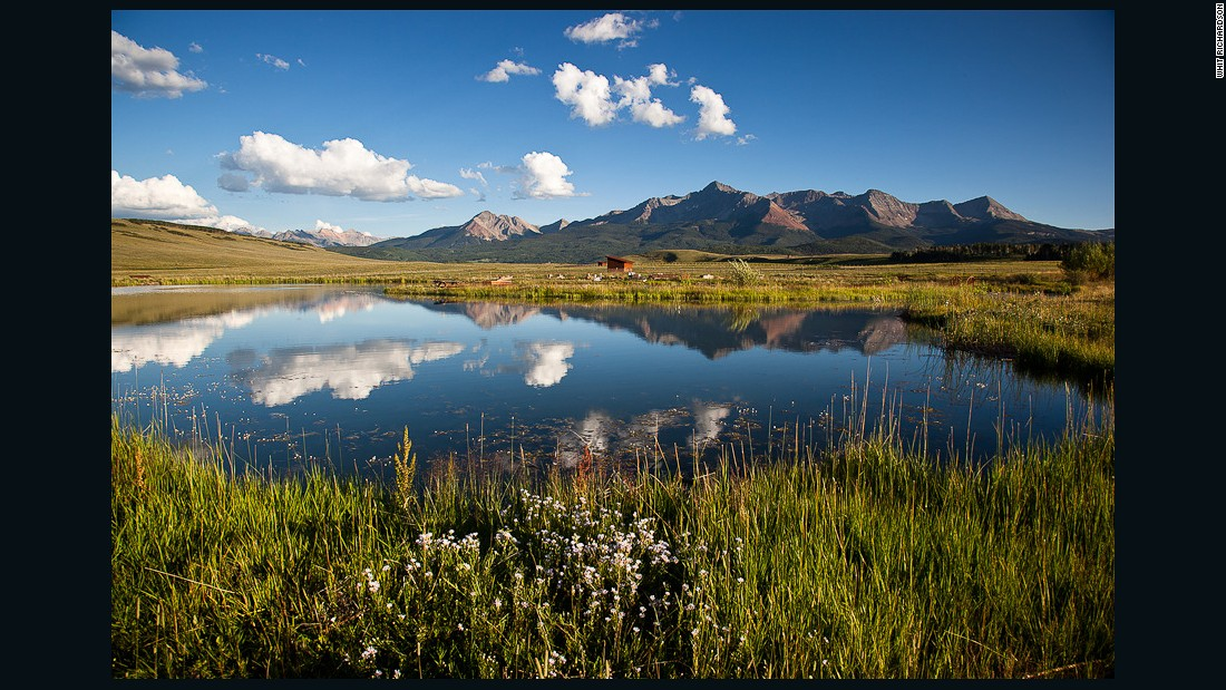 ... trout ponds and magnificent views looking onto the Rocky Mountains.
