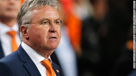 Guus Hiddink during his second spell as manager of the Netherlands.