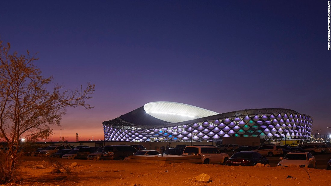 One of Pattern Design's main challenges was to create a structure that could withstand the hot and dry climate of Al Ain. The sinuous and gravity-bending parasol roof is inspired by the Arabic headdress. The roof's design is a departure from traditional European stadium roofs -- which are intended for wetter climates. This one shades spectators, but allows for enough sunlight to hit the pitch. The firm is currently designing Al Rayyan Stadium for the 2022 FIFA World Cup in Qatar.