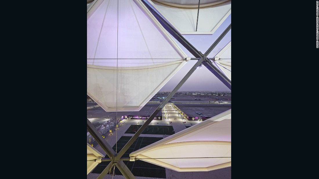 The parametric design, which rotates, allows fresh air to flow throughout the stadium. The stadium is the home of Al Ain Football Club, one of the leading clubs in the United Arab Emirates Pro League.