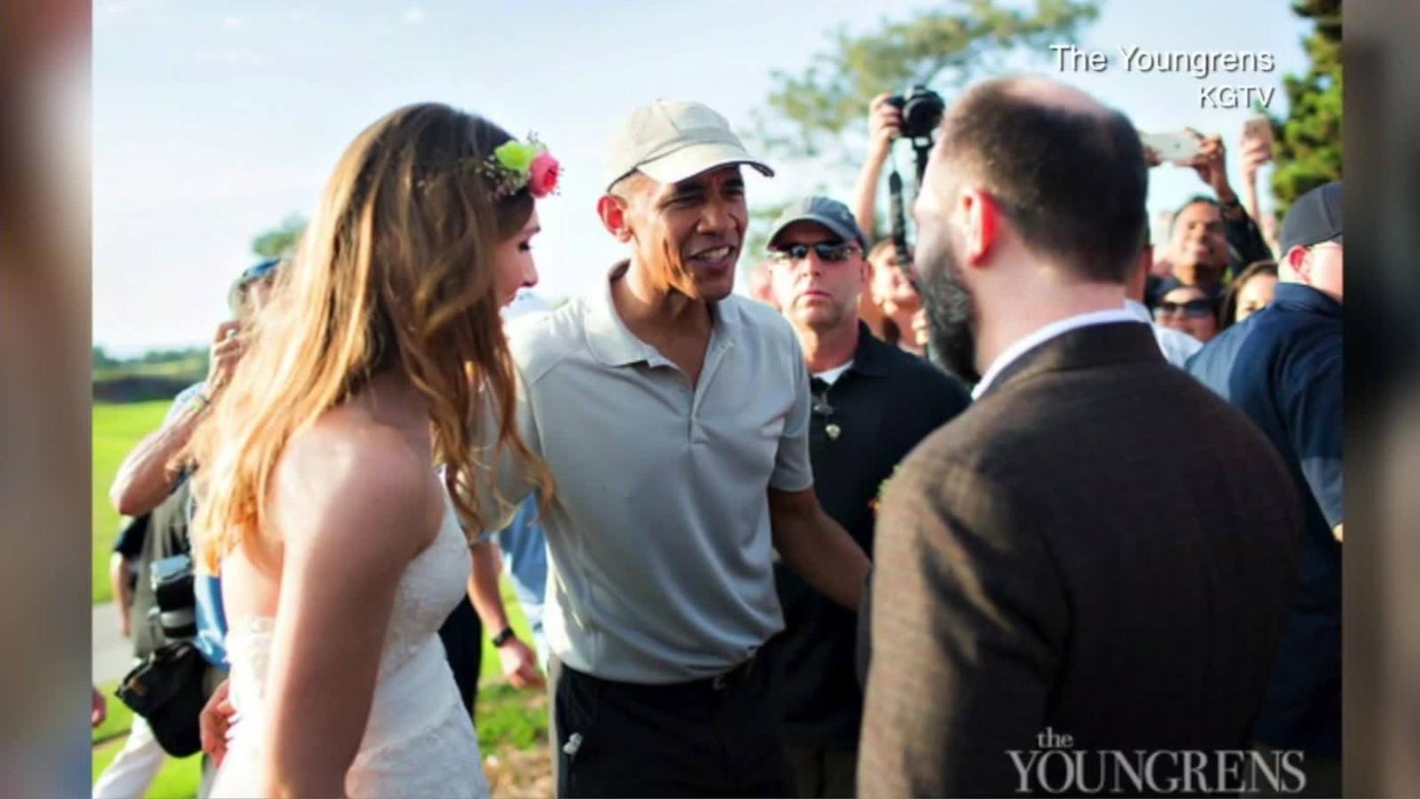President Barack Obama Crashes California Wedding