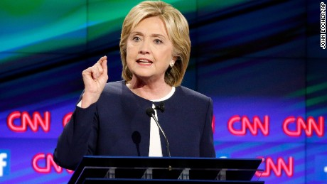Hillary Rodham Clinton speaks during the CNN Democratic presidential debate Tuesday, Oct. 13, 2015, in Las Vegas. (AP Photo/John Locher)
