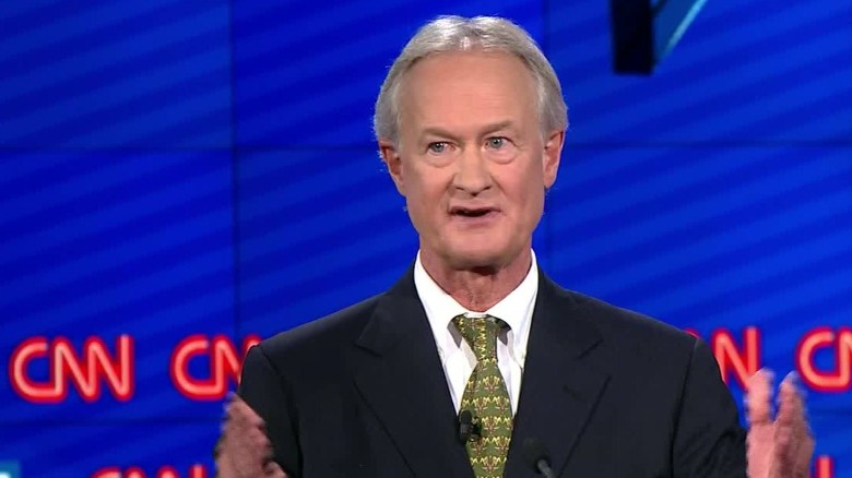 Lincoln Chafee drops out, advocates for peace