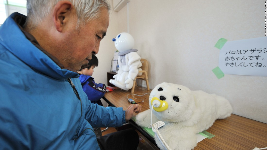 "Also in Japan, ""Paro,"" the therapeutic robot baby seal, has been used to comfort people affected by disasters, as well as the elderly and disabled. It was designed to provide the soothing qualities of a pet and was developed by Japan's National institute of Advanced Industrial Science and Technology."