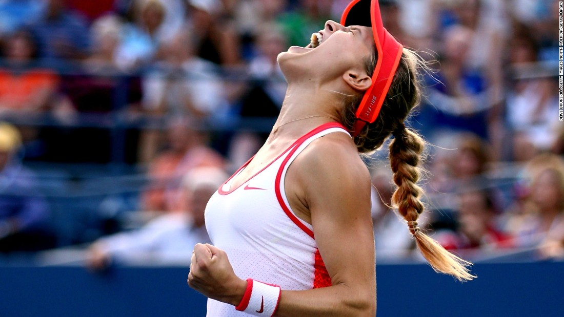 Before the concussion, Bouchard was having a good U.S. Open. She won three rounds to arrest a bad slump.