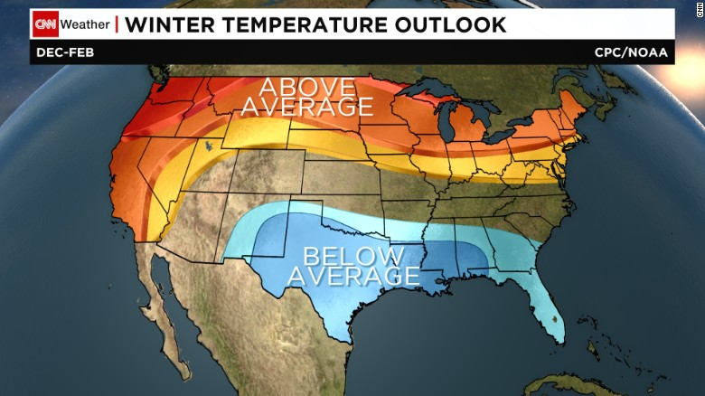 NOAA Winter Forecast Snowy Northeast Rainy Relief For California - Northeast us weather map
