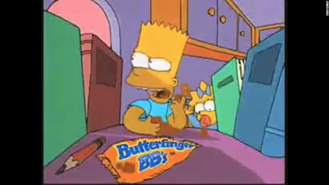 "The Butterfinger chocolate bar has been around since the 1920s, and an offshoot -- Butterfinger BBs -- was introduced in the early 1990s, with Bart Simpson as a spokescharacter. Unlike ""The Simpsons,"" however, the ball-shaped chocolate didn't last, and it was discontinued in 2006."