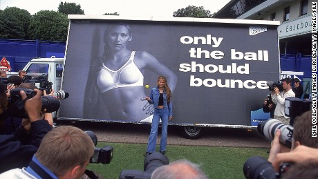 One of Kournikova's most memorable advertising campaigns was for Berlei's shock absorber sports bras.