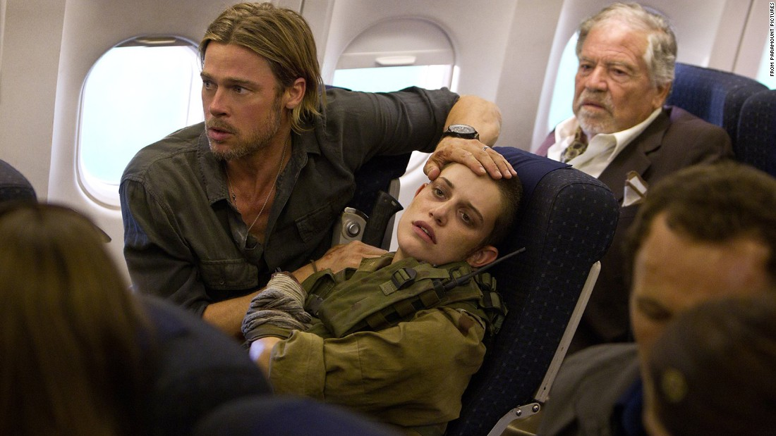 "Health concerns, such as the zombie apocalypse depicted in the 2013 film ""World War Z,"" are a common nightmare."