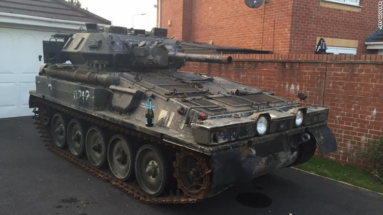 Tank Bought On An Online Auction Forces British Man To Move House