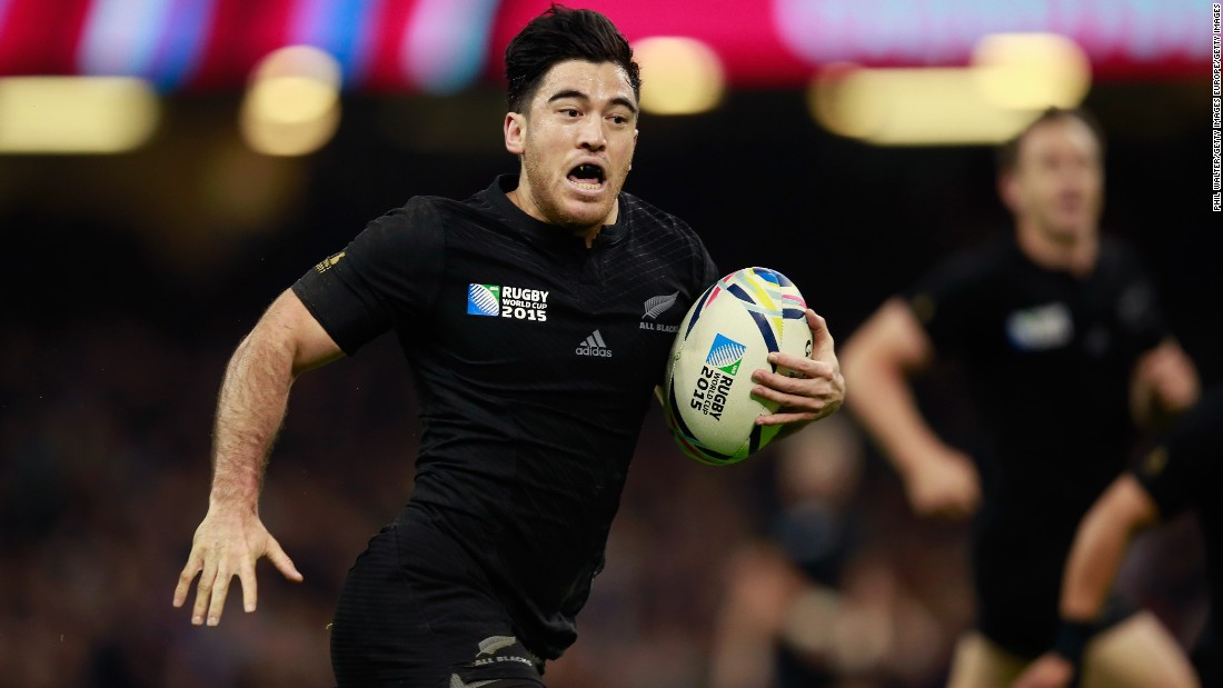 Nehe Milner-Skudder scored New Zealand's third try of the first half.