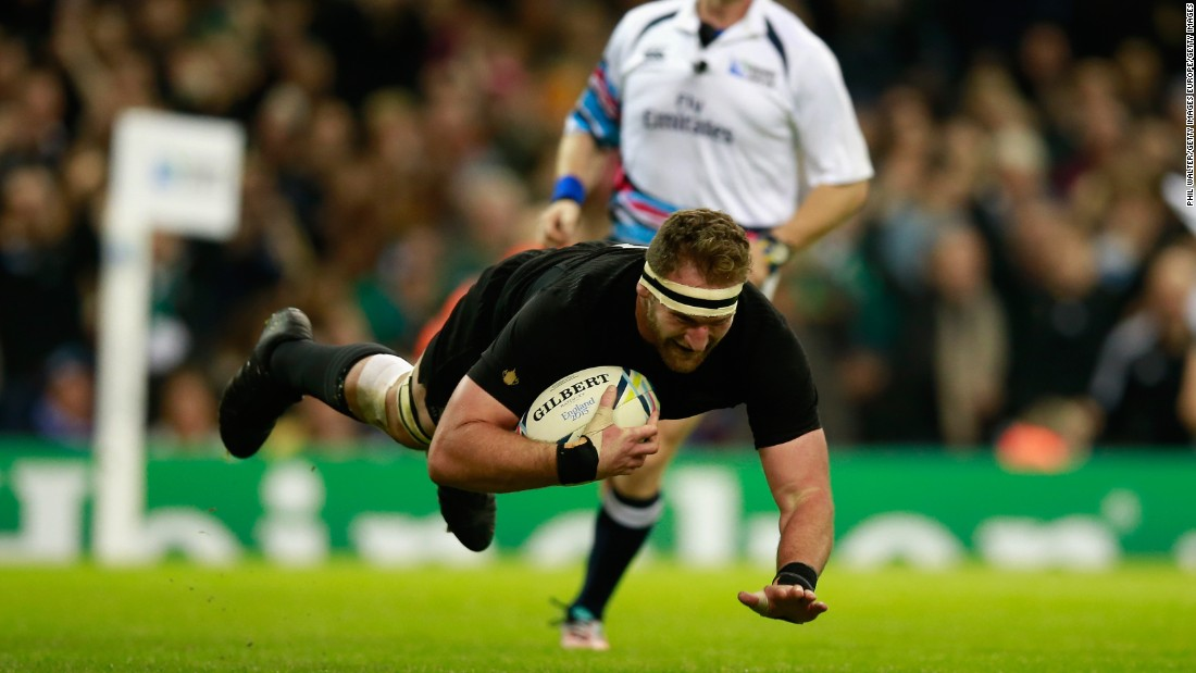 Kieran Read scored one of New Zealand's five second half tries on the way to what was eventually a comfortable victory.