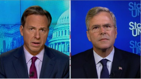 SOTU Tapper: Jeb Bush slams Trump for 9/11 remarks_00015313