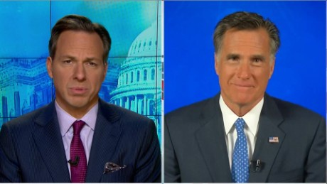 SOTU Tapper: Romney: I'm Glad I'm Not in this Race _00000312.jpg