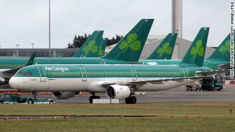 The flight from Lisbon to Dublin was diverted to Cork after the man became distressed.