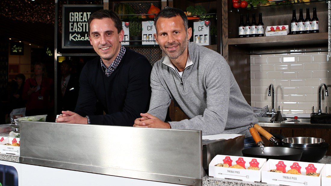 Neville also has commercial business interests and owns a hotel near Manchester United's Old Trafford ground, as well as Cafe Football restaurants in Manchester and London with Giggs.