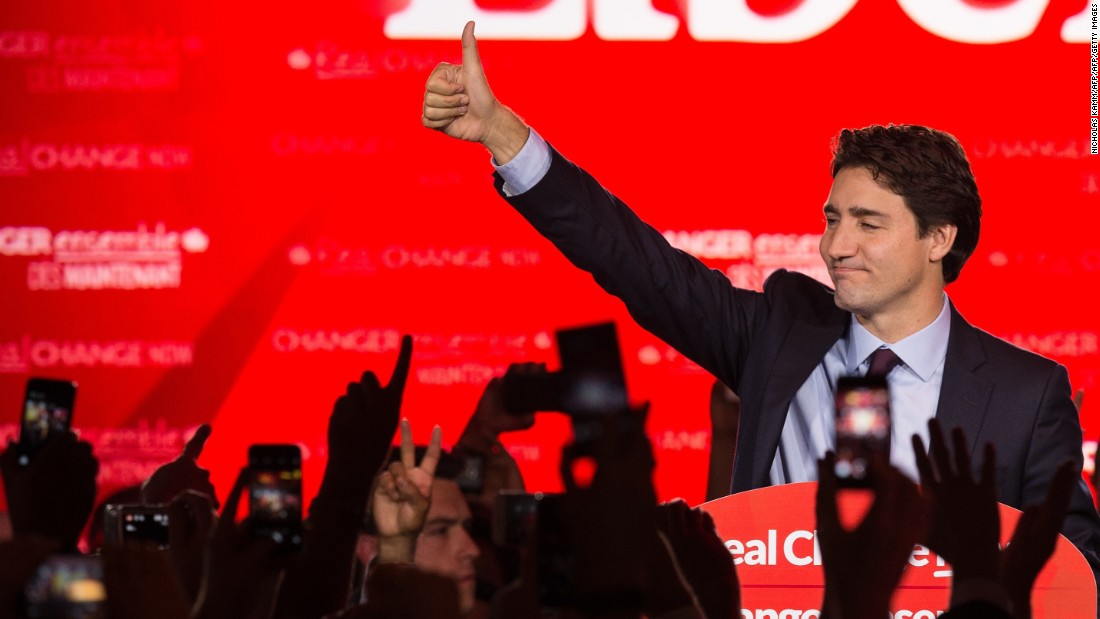 Justin Trudeau, Liberals win clear majority in Canada elections
