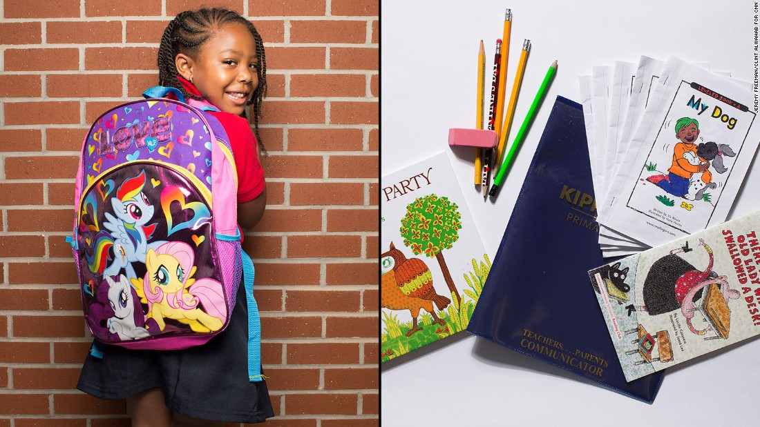 "Paris, a kindergarten student at KIPP STRIVE Primary, said she's just like Rarity, one of the My Little Pony characters on her backpack. ""She's so fancy,"" Paris said."