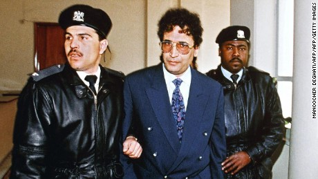 Abdel Basset Ali Al-Megrahi, the only person ever convicted for the Pan Am 103 bombing.