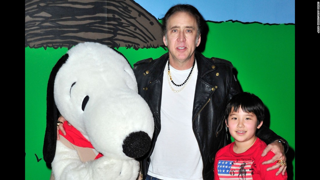 Surely, Nicolas Cage is first in line to see all the Superman movies. We can only guess that his love for the superhero is what led to him bestowing Superman's Kryptonian name, Kal-El, on his son.