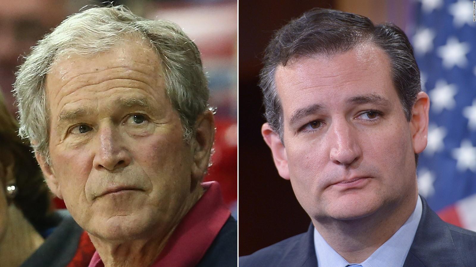 George W Bush Makes Shocking Statement About Ted Cruz Cnn Video
