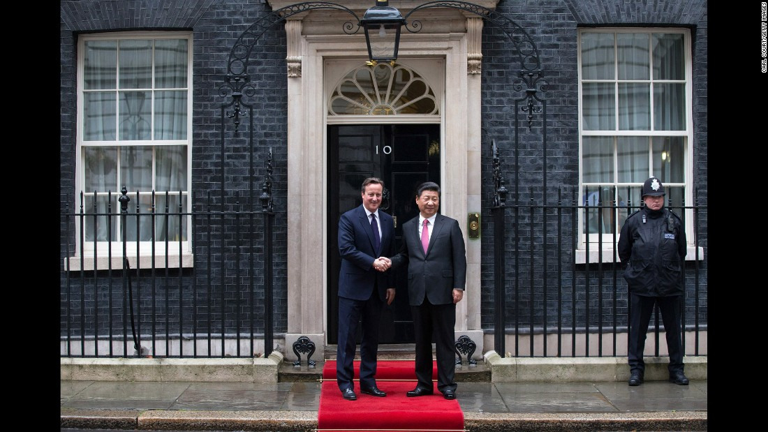 Xi, who is currently enjoying a state visit to Britain, gave a speech to members of Parliament and enjoyed a state banquet at Buckingham Palace.