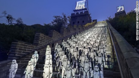'Star Wars' hits China's Great Wall
