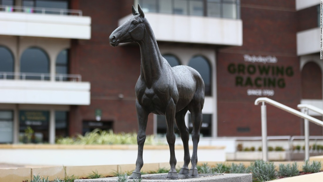 A statue dedicated to the horse, who was said to have enjoyed a drop of Guinness, is on display at Cheltenham.<br />