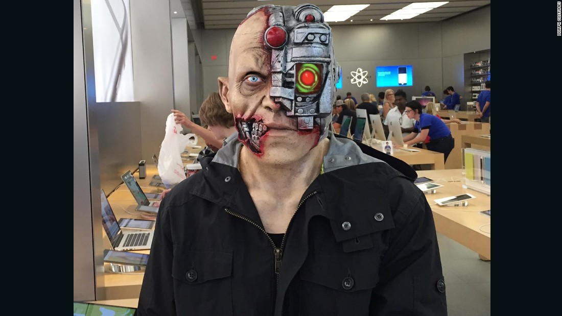 The company also recruited a NASA engineer to animate suits such as this cyborg.