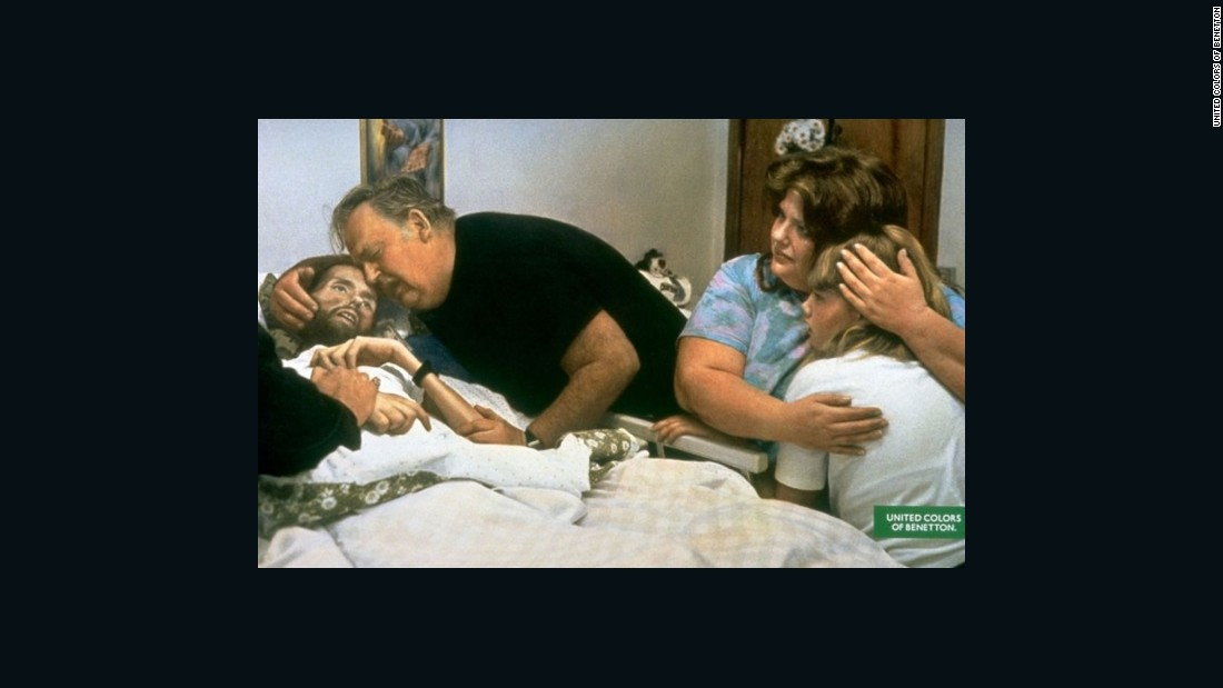 "Taken by Therese Frare, this image shows the deteriorating condition of David Kirby -- an AIDS activist. The photo, taken in 1990, was captured in Kirby's actual hospital room in Ohio, and features Kirby's family members by his bedside. The image went on to <a href=""http://www.worldpressphoto.org/collection/photo/1991/general-news/therese-frare"" target=""_blank"">win</a> the World Press Photo Award in 1991."