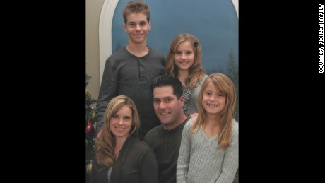 Brooklynn, upper right, appears in her last formal Mohler family portrait, taken in December 2011. With her is her older brother, Levi; her parents, Darchel and Jacob; and her younger sister, Madisson.