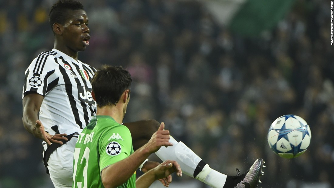 Paul Pogba was unable to inspire Juventus as it was held 0-0 at home by Borussia Moenchengladbach.