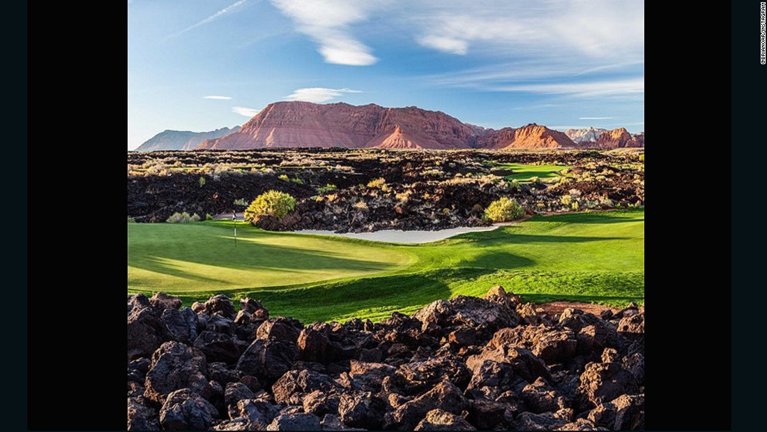 "This shot sent to us by <a href=""https://instagram.com/brianoar/"" target=""_blank"">@brianoar</a> -- owner of <a href=""https://instagram.com/stgeorgeutahgolf/"" target=""_blank"">@stgeorgeutahgolf</a> and <a href=""https://www.stgeorgeutahgolf.com/"" target=""_blank"">www.stgeorgeutahgolf.com</a> -- is of Entrada at Snow Canyon. He has been a huge golf fan since the age of eight when he used to play with his Grandma. ""I fell in love with the look of morning and evening light and 'golden hours' on golf courses,"" he says. ""They are living, breathing pieces of art."""