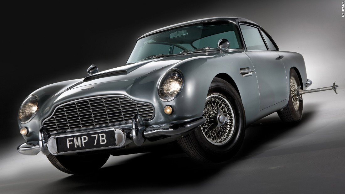 This Bond car was fitted with machine guns, an ejector seat and a host of other Q Branch gadgets. It made a triumphant return in Skyfall and sold for $4.6 million in 2010.